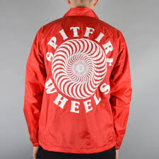 spitfire jacket. classic coach jacket - red spitfire