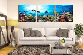 3 piece photo canvas living room canvas photography blue panoramic canvas print fish on large 3 panel wall art with 3 piece canvas wall art fish large pictures turtle multi panel