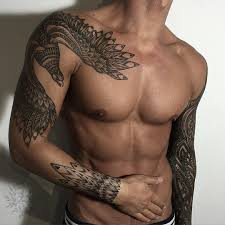 birds tattoo for men. Simple For Good Looking Mens Tribal Tattoo Bird Tattoo Sleeve Hot Men Throughout Birds For Men
