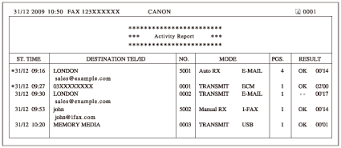 Overview Of Reports And Lists - Canon - Imagerunner 2545I / 2545 ...