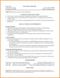Sales Resume Summary Statement Examples 74 Images The Newest