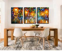3 piece canvas art abstract paintings acrylic wall decor modern paintings palette knife painting living