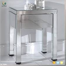 mirrored bedside furniture. Venetian Mirror Glass 1 Drawer Mirrored Bedside Night Table Bedroom  Furniture Mirrored Bedside Furniture E