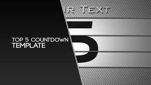 countdown templates free after effects template top 5 countdown by nerow youtube