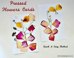 Flower Pressed Paper Art Activities For Kids Flower Pressing Valentine Art