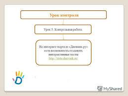 Презентация на тему Презентация к уроку по литературе класс  15 Урок 5 Контрольная работа