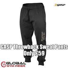 Gasp Clothing Size Chart Gasp Throwback Sweat Pants Gym Outfit Men Pants Sweatpants