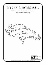 Cool Coloring Pages Denver Broncos Nfl American Football Teams