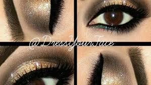neutral gold eye makeup tutorial video