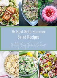 75 best keto summer salad recipes low
