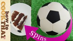 How To Decorate A Soccer Ball Cake Spinning Football CAKE soccer How To Cook That ANN REARDON YouTube 86