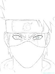 Naruto Coloring Page Pages Kakashi Playanamehelp