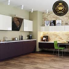 Moderne Wohnküche Capry Einbauküche Premiumklasse Bordeaux Weiß Hochglanz