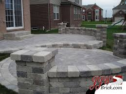 brick paver patio patterns.  Paver TwoTier Brick Paver Patio Design With Pillars And Seating  WallsTumbled Pavers Lighting In Macomb Township Michigan Intended Patterns P