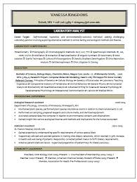 Psychology Resume Examples Interesting Laboratory Analyst Resume Sample
