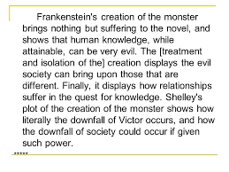 self assessment and discussion ppt video online  13 frankenstein s
