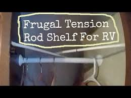 3 ideas for an rv shelf using tension rods for and easy removable shelf you