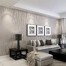 modern wallpaper living room