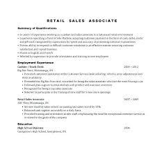 Retail Resumes Sales Associate Resume Of Sales Associate Sales Associate Resume Example Resume