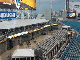 looking down towards the terrace suites on the south side of the stadium