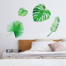 Green Plant Background Decoration Removable Wall Stickers-buy ...