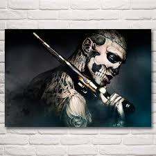rick genest ronin arma tatuagem máquina rico o zumbi arte cópias do cartaz de decoração para