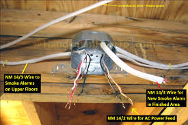 how to install a hardwired smoke alarm ac power and alarm wiring smoke alarm octogonal ceiling box wiring