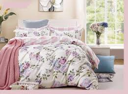 pink purple rose cotton bedding set duvet cover set twin f