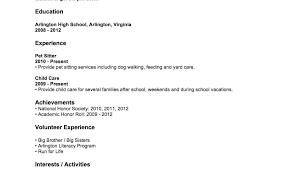 Sample Resume Teenager No Experience Eddubois Com