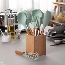 9/10 Piece Set Silicone Kitchenware Set Fresh Blue Wooden Storage Tube  Furniture Kitchen Utensils Spatula Soup Spoon Set - buy at the price of  $22.48 in aliexpress.com   imall.com