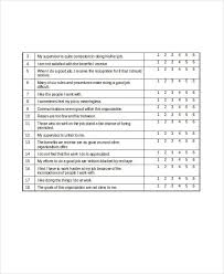 Job Satisfaction Survey Template Fascinating 48 Survey Questionnaire Examples PDF