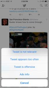 """Adam Hartsfield on Twitter: """"Hey @Twitter, I find your spamming of my feed  with giants tweets to be offensive. Knock it off #Dodgers #dodgerfan… """""""
