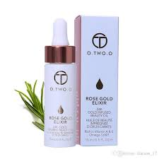 then apply 2 drops of rose gold elixir to a d beauty sponge or brush and blend in this makes blending easier while the 24k gold helps achieve that