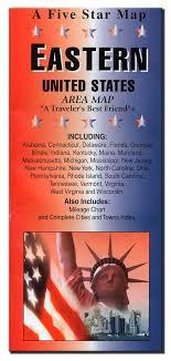 Eastern Usa Five Star Maps