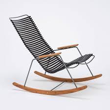 modern rocking chair in black