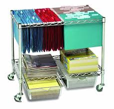 rolling office cart. amazoncom seville classics 3tier mobile letterlegal office file u0026 utility cart with 2 steel wire mesh baskets home kitchen rolling