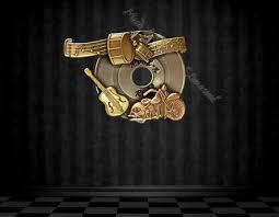 rock n roll brass wall art on rock n roll wall art with second life marketplace rock n roll brass wall art