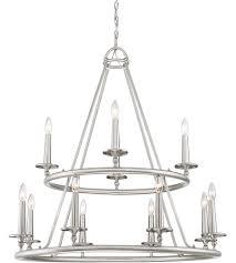 quoizel vyr5012bn voyager 12 light 36 inch brushed nickel chandelier ceiling light