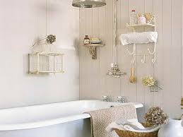... Simplicity is the key in this cool shabby chic bathroom