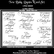 New Baby Quotes Word Art