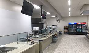 office cafeteria design. photo of new cafeteria food stations office design