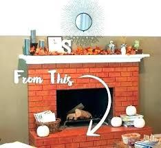 brick fireplace mantel decor brick fireplace mantel decor red brick fireplace brick fireplace before repainting red