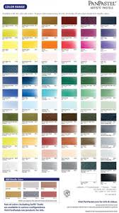 Panpastel Artists Pastels Color Chart To Buy Pastel