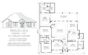 1 story floor plans unique sq feet 3 bedroom homeplans 2800square full size