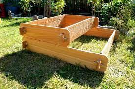 raised garden bed 2 tier cedar raised