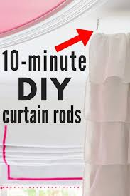 10 minute diy curtain rod the