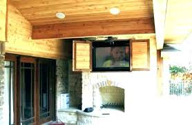 outside tv enclosure outdoor how to build an waterproof cabinet box enclosures above fireplace outd