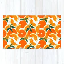 orange harvest white rug by leannesimpsonart society6 orange and white rug orange and white chevron rug