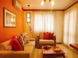 Voyage Yellow Orange Paint Colors Modern Living Room