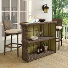 TKC Napa Backless Outdoor Wicker Bar Stools In Espresso Set Of 4 Outdoor Wicker Bar Furniture